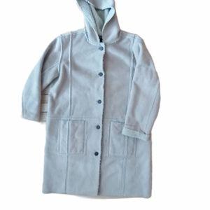 Vintage Woolrich long faux shearling coat Large